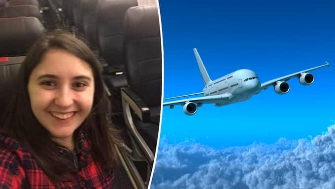 Beth fick en häftig upplevelse på grund av flygbolagets miss. Foto: Reddit/Colourbox