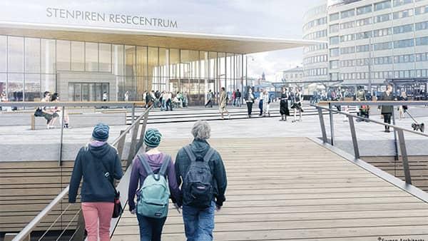 UTOPI. På arkitekternas skisser blåser det aldrig. Foto: SWECO ARCHITECTS