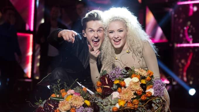 I andra deltävlingen var det David Lindgren och Wiktoria som tog sig direkt till final. Foto: Sven Lindwall