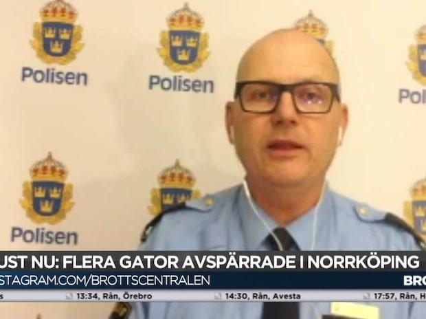 Bombgruppen på plats i Norrköping