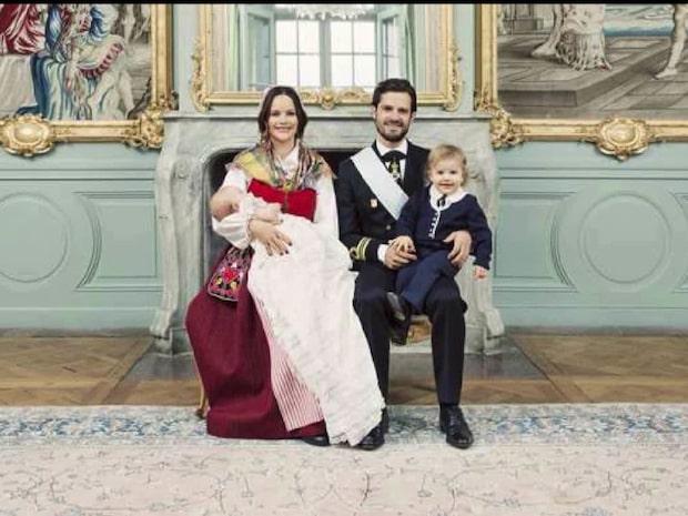 Här är den nya dopbilden på prins Gabriel