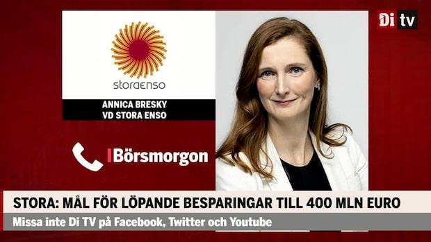 """Annika Bresky, vd Stora Enso: """"Gediget resultat"""""""
