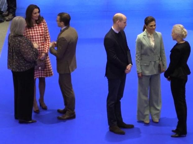 William och Kate drack te hos Kronprinsessan Victoria