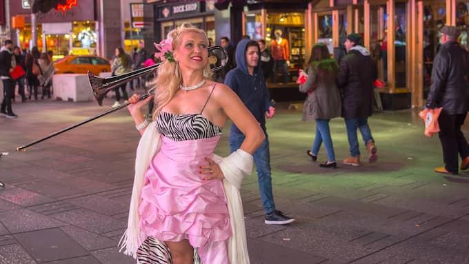 Gunhild Carling har fått göra sitt livs spelning på Broadway i New York. Foto: Per Jahnke
