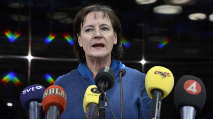 Annelie Nordström, ordförande i fackförbundet Kommunal. Foto: Claudio Bresciani/Tt