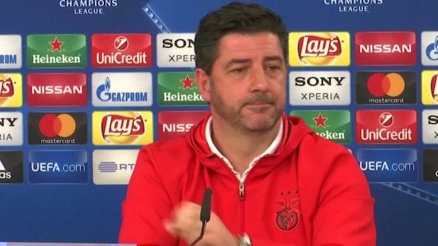 """Benfica-tränaren Rui Vitoria: """"Inte nöjda med det här"""""""