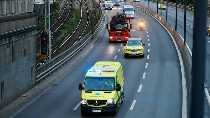 Arkivbild. Mannen hann köra ambulans under flera veckor innan man upptäckte att han inte hade körkort. Foto: VILHELM STOKSTAD/TT