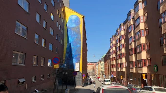Konstverket avtäcktes den 11 april. Foto: Privat