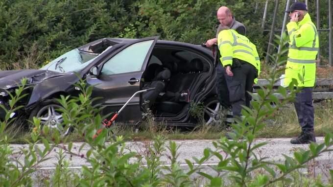 Den tyska familjen var på väg hem från semester i Sverige. Mamma, 33, dog och pappa, 36, skadades mycket allvarligt. Den då femårige sonen i baksätet klarade sig. Foto: TOPNEWS/LOCAL EYES / TOPNEWS/LOCAL EYES