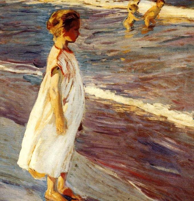 Menina av Joaquín Sorolla (1863-1923).