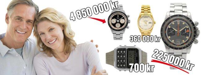 Branschen för vintageklockor är just nu het. Ditt armbandsur kan vara värt tusenlappar.