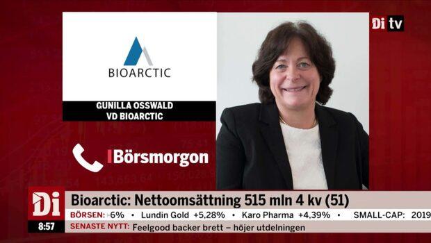 Bioarctic's VD ser positivt på milstolpebetalningen
