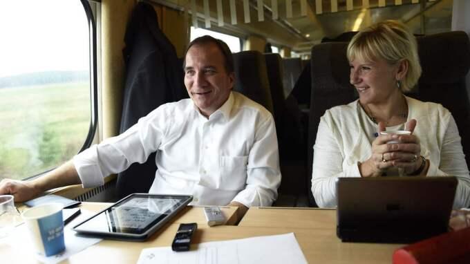 S-ledaren kommenterar Expressens avslöjande om att alliansledarna tar regeringsplanet när de valspurtar – något som skattebetalarna får betala för. Foto: Sven Lindwall