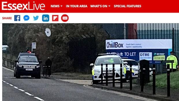 39 personer hittade döda i lastbil utanför London