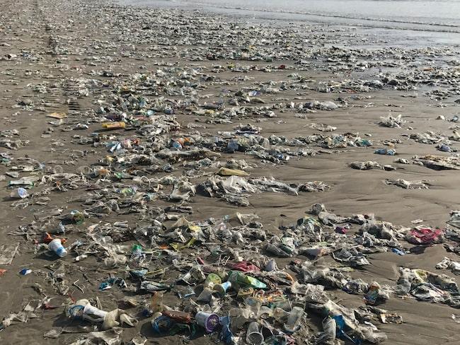 I dag är Kuta Beach, på Bali, så full av skräp att turisterna flyr därifrån.