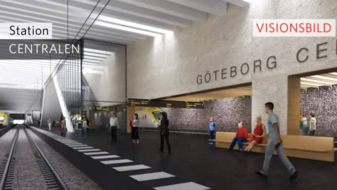 Från centralstationen är det tänkt att tågtunneln Västlänken ska gå ungefär sex kilometer under jord genom centrala Göteborg. Foto: Trafikverket