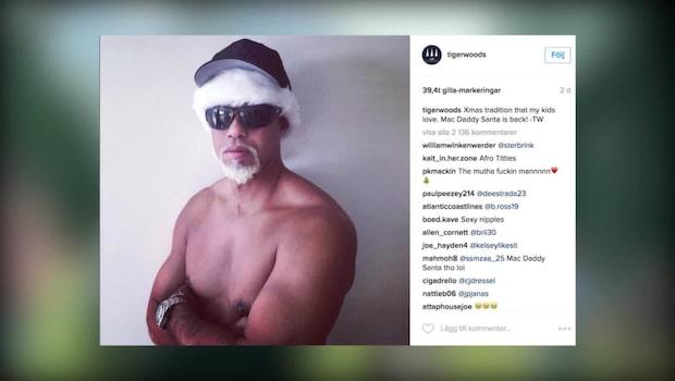 Tiger Woods hånas efter julbilden
