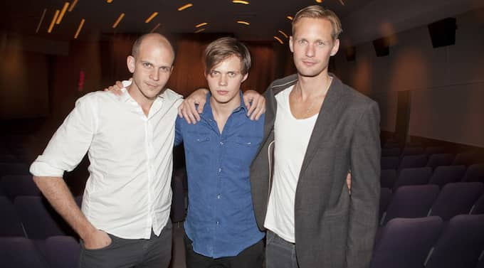 Gustaf , Bill och Alexander Skarsgård - alla är de stolta bröder. Foto: Thomas Engstrom