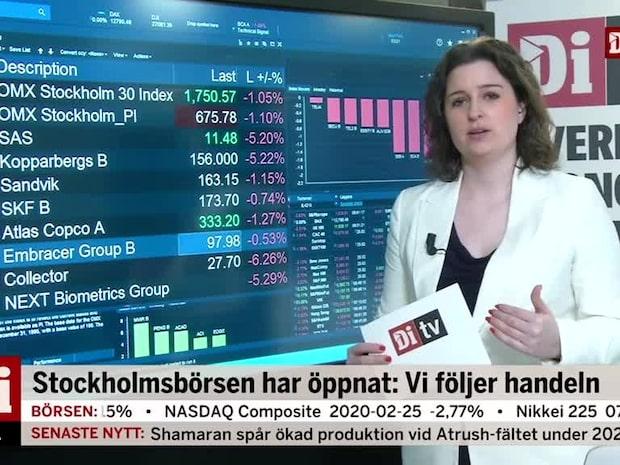 Börsöppning: Breda nedgångar - både SAS och Kopparberg rasar