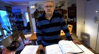 GT-journalisten Kenneth Karlsson hotas av utförsäkring. Foto: Dragan Mitrovic