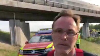 """Räddningstjänsten: """"Ett fullsatt tåg, alla agerade lugnt och sansat"""""""