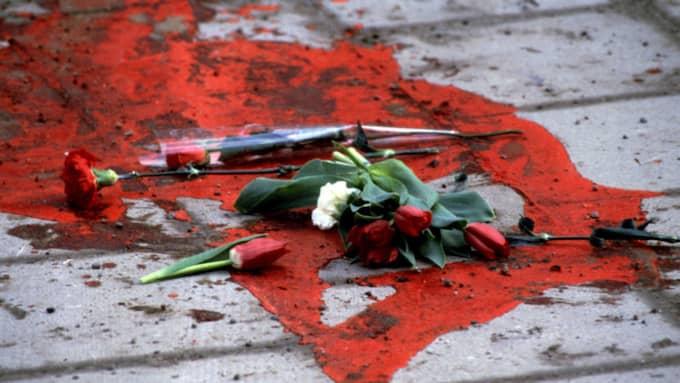 Platsen där Palme sköts. På söndag är det 30 år sedan Sveriges statsminister mördades. Foto: Jacob Forsell