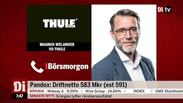 """Thules vd: """"Det är en god start på året, vi är inne i en expansionsstart"""""""