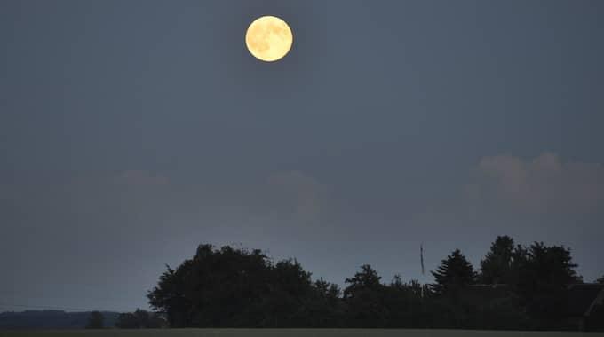 Här syns en tidigare supermåne över Tomelilla. Foto: Lasse Svensson