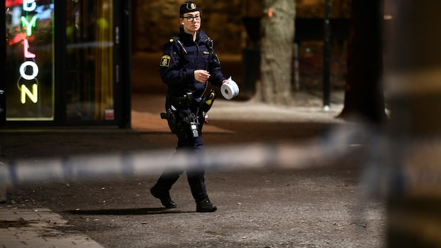 Person knivhuggen i centrala Stockholm