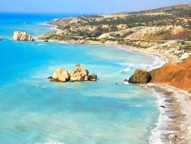 Nästan alla Pafosturister planerar in ett besök vid Afrodites klippa...