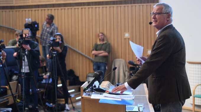 Sten Heckscher utredde Karolinska institutets agerande i Macchiarinifallet. Foto: Fredrik Sandberg/TT