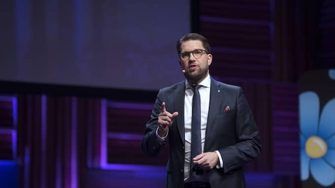 Jimmie Åkesson, partiledare för Sverigedemokraterna. Foto: SVEN LINDWALL