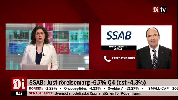 SSABs vd: Det var ett utmanande kvartal