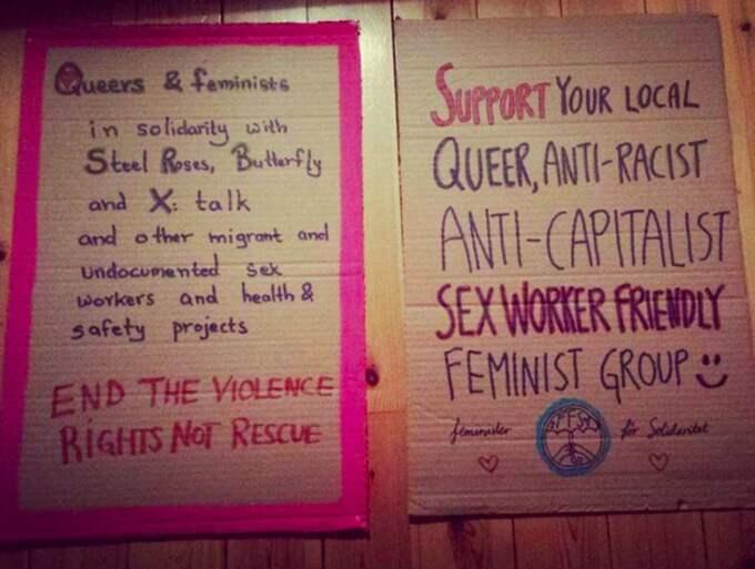 """""""Det är första gången sexarbetare vill bli inkluderade på kvinnodagen i Sverige"""", säger en 28-årig sexarbetande aktivist som Expressen har pratat med. Foto: Privat"""