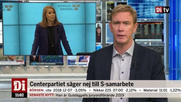 Di Nyheter 11.00 10 dec - C röstar nej till S-samarbete
