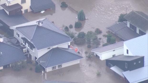 Över 30 döda efter tyfonen Hagibis framfart i Japan