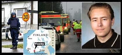 Pekka-Eric, 18, sköt ihjäl sju skolkamrater och rektorn.