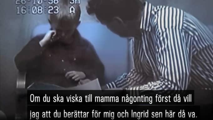 Här erbjuds Christian att få träffa sin mamma – mot information. Foto: SVT Dokument inifrån