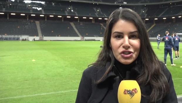 Sverige tränar inför matchen mot Ryssland