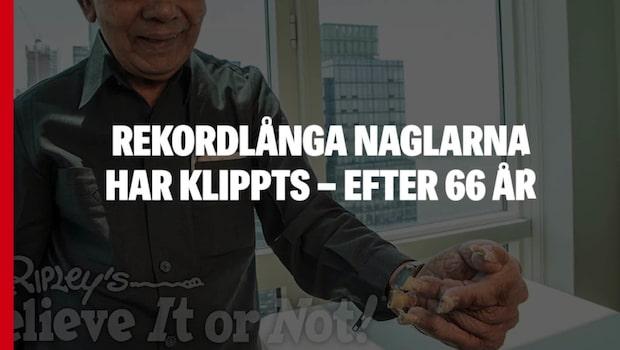 Rekordlånga naglarna har klippts – efter 66 år