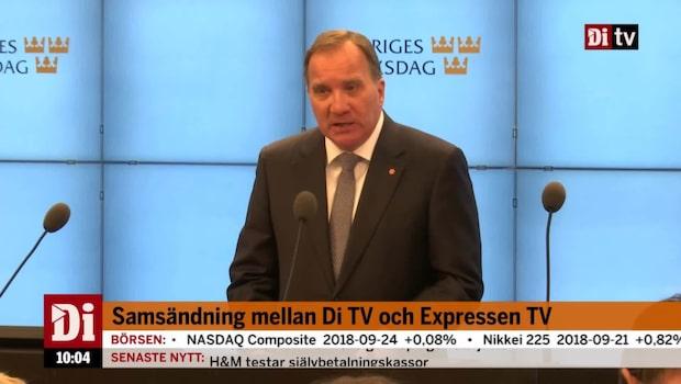 """Löfven: """"Min vilja är att fortsätta att tjäna vårt land"""""""