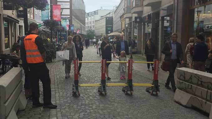 Metallbockar byter ut de klassiska betongsuggorna på årets Malmöfestival. Foto: Maria Rydhagen