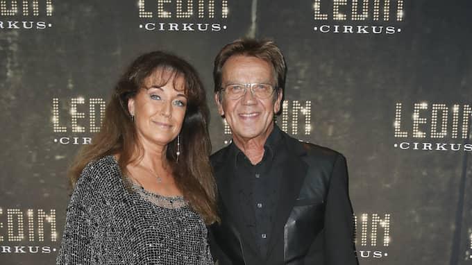 Björn Skifs kom med hustrun Pernilla. Foto: JARI KANTOLA / STELLA PICTURES