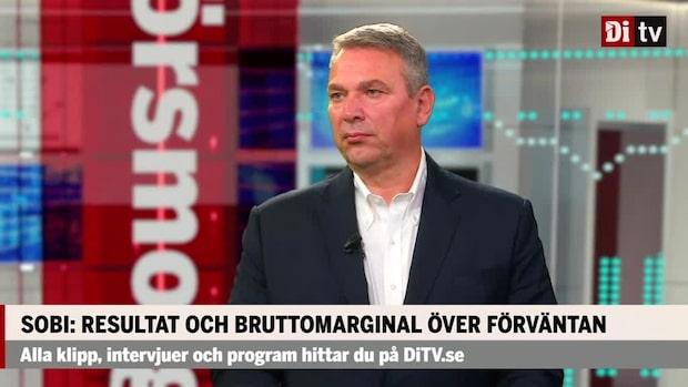 """Guido Oelkers vd Sobi: """"Forskningsbesvikelser har sänkt aktien"""""""