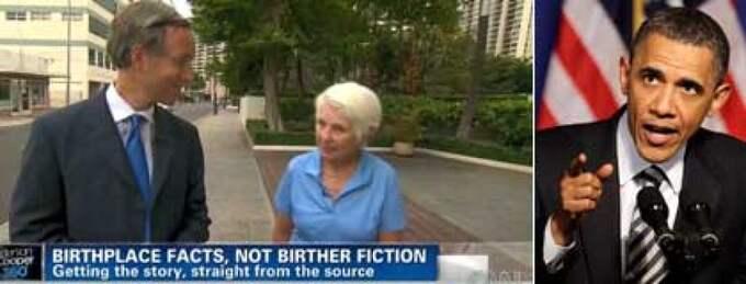 Svenska Monika Danielson födde sonen Stig på Hawaii, 1961, dagen efter att Barack Obama föddes.