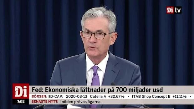 Di Morgonkoll - Kraftiga fall efter Fed:s besked