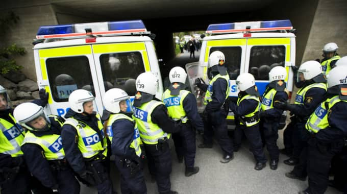 Polisövning. Foto: Markus Dahlberg / Tt / TT NYHETSBYRÅN