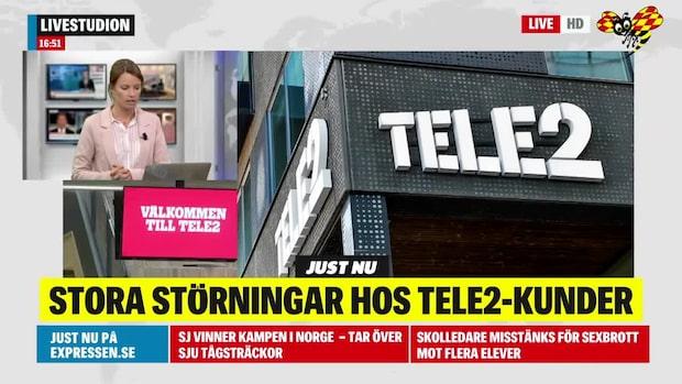 Tele2 har stora driftstörningar