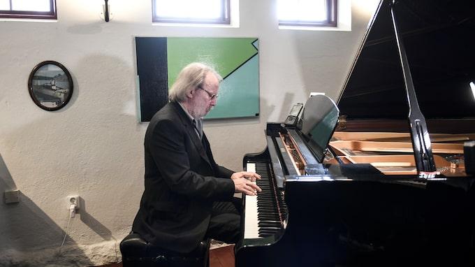 Benny Andersson i sin studio. Foto: PONTUS LUNDAHL/TT / TT NYHETSBYRÅN