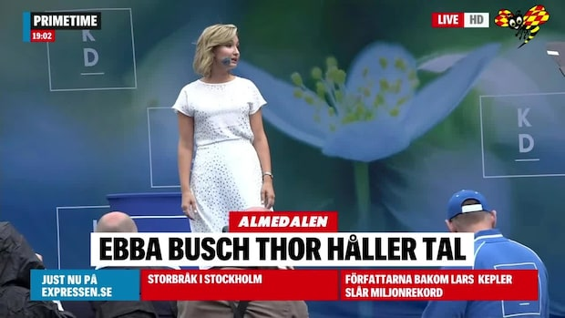 Ebba Busch Thor (KD) talade i Almedalen